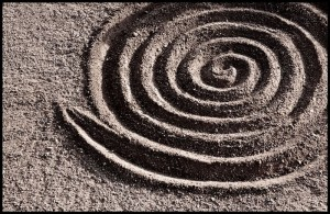 Spiral in Sand