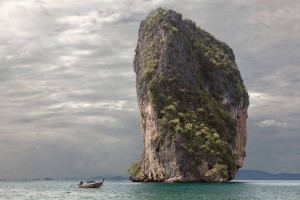 Gigantic rock and the sea
